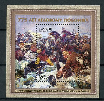 Russia 2017 MNH Battle on the Ice 775th Anniv 1v S/S Crusaders Knights Stamps