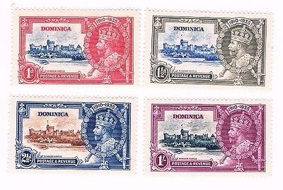 Dominica 1935 Silver Jubilee moounted mint set