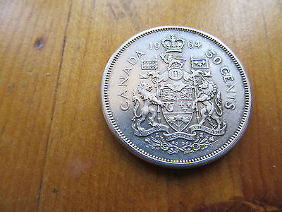 1964 canadian silver 50 cents better grade