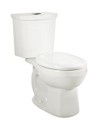 H2Option Siphonic Right Height Dual Flush Round Two-Piece Toilet American