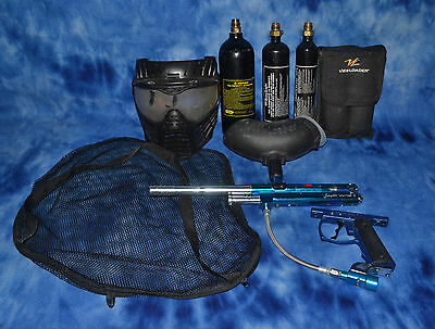 Spyder Victor II Semi Automatic Paintball Gun with Tanks, Hopper, Mask, Extras