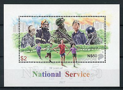 Singapore 2017 MNH National Service 50 Years 1v M/S Army Military Stamps