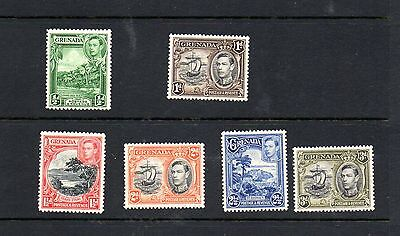 Grenada - 1938> mounted mint part set up to 3d of postage stamps