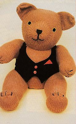 Teddy Bear Toy Pattern For Machine Knitting