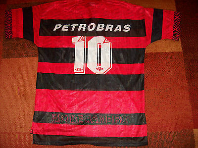 1995 1996 Flamengo #10 Romario Football Shirt Brazil Adults XL Camisa Top Jersey