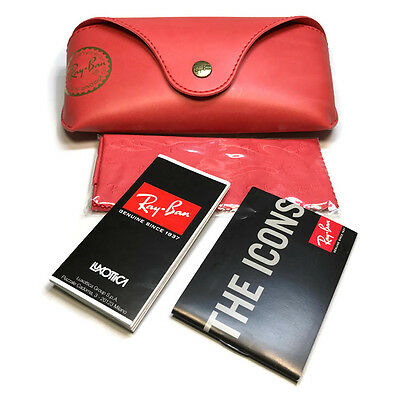 Ray Ban Limited Edition Soft Red Eyeglass Sunglasses Case w/Cloth