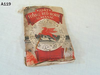 Vintage 1947 Mobil Oil Gas Socony Vacuum Pegasus Flying Red Horse Almanac Book