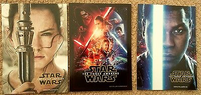 STAR WARS The Force Awakens SET OF 3 PROMO POSTCARDS