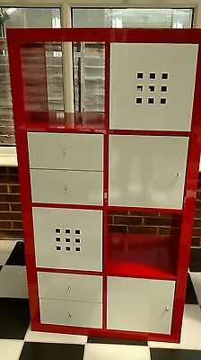 Ikea Red and White Storage Unit