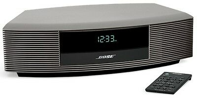 bose wave am fm dab radio iii titanium silver touch top on off remote control. Black Bedroom Furniture Sets. Home Design Ideas