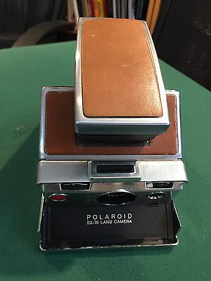 Vintage Polaroid Land SX70 Instant Camera Untested It May Or May not Work brown