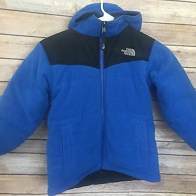 The North Face Boys Reversible Blue Jacket Size 6 Hooded #1510