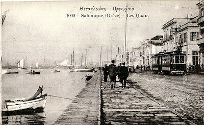 1900s postcard The Port Thessaloniki Salonique Greece