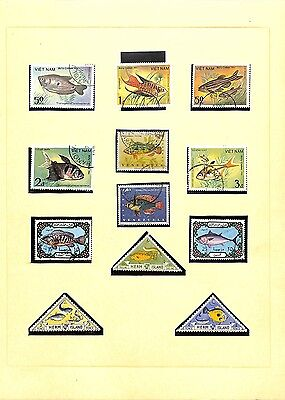 [OP4726] Fish World lot of stamps on 10 pages - see photos in description