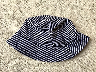 99p SALE! Baby Fisherman's / Sun Hat (0-6 Months) Blue and White Stripes