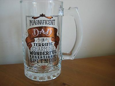 New And Boxed 'dad' Beer Glass Tankard