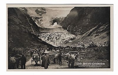 RP Postcard Tourists Kjenndalsbreen Glacier, Loen Norway 1927 Carl Normann 104A