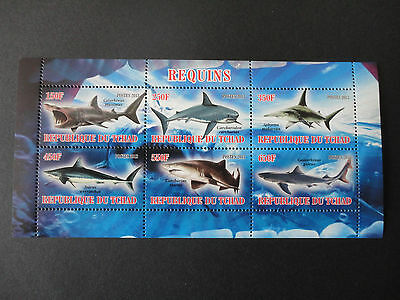 Tchad 2013  Sharks MNH  VF