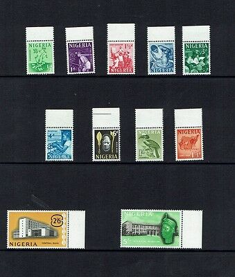 Nigeria: 1961 short defintive set to 5/- MNH