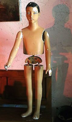 Mannequin ancien SIEGEL articulé Enfant 115 cm  VINTAGE SIEGEL WINDOW SHOP MODEL