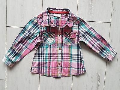next girls checked shirt 12-18 months