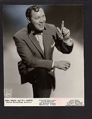1956 Press Photograph Celebrity Band Leader Bill Haley and his Comets *2774
