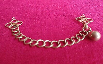 Vintage Brass Cape Cloak Coat Clasp Chain and Hook Male or Female