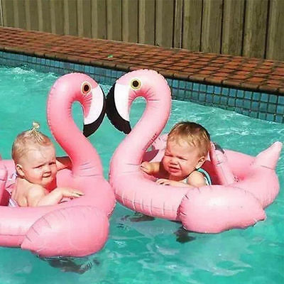 Baby Kids Infant Flamingo Inflatable Float Seat Water Toy Pool Swimming Ring UK