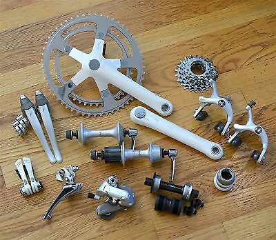 Vintage Shimano Sante Group Set 7 Speed Complete incl Hubs Headset Shifters