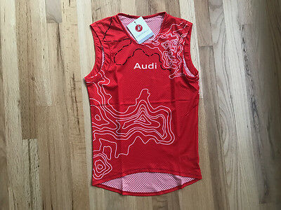 Audi / Castelli Team Pro Mesh Sleeveless Baselayer (Red) - M