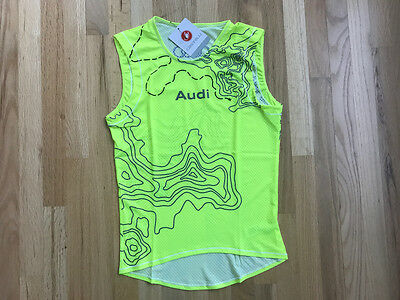 Audi / Castelli Team Pro Mesh Sleeveless Baselayer (Hi Vis/Neon Yellow) - M