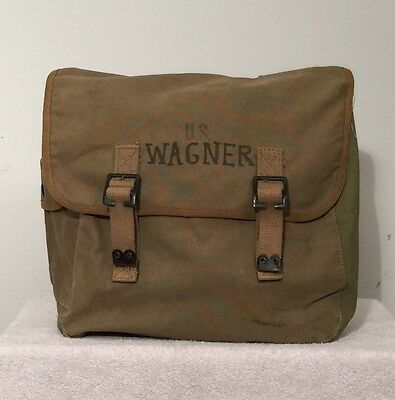Wwii U.s. M-1936 Mussette Canvas Field Bag British Made Dated 1944