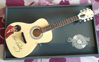 Miniature Elvis Presley Acoustic Guitar And Stand
