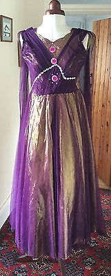 Purple And Gold Pantomime Princess Theatrical Stage Costume