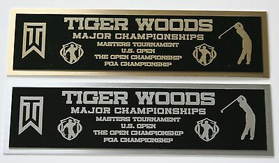 Tiger Woods Masters nameplate for signed golf ball photo or display case