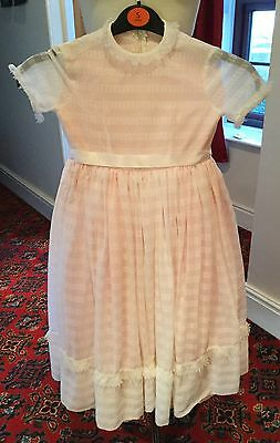 Girl's Pale Pink Flower Girl/party Dress - Age 8-9 Years