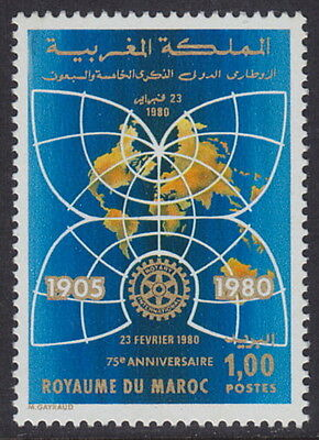 MOROCCO - 1980 75th Anniversary of Rotary International (1v) - UM / MNH