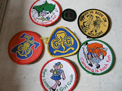 Vintage Girl Guides badges x 7