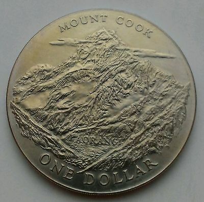 New Zealand 1 Dollar 1970. KM#42. One Crown coin. Elizabeth II. Mount Cook.