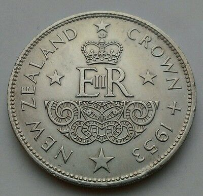 New Zealand 1 Crown 1953. KM#30. One Dollar coin. Elizabeth II. Coronation.
