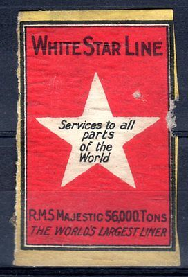 FPA OLD MATCHBOX LABELS-UK No.70- White Star Line