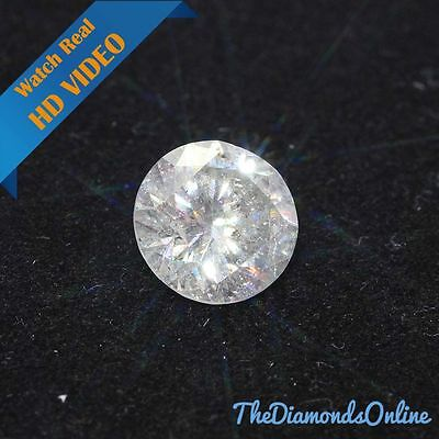 Round Loose Diamond 3.45 Carat G SI3 Clarity Enhanced For Ring Natural Diamond