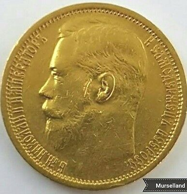 IMPERIAL Russia 1897 АГ  Gold 15 Rouble nice Coin !  NICHOLAY II