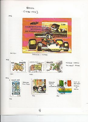 BRAZIL STAMPS - 1972-1975 - on album pages