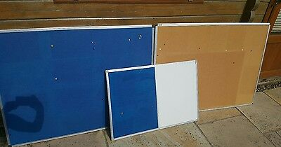 3 x notice boards, 2 large and 1 small