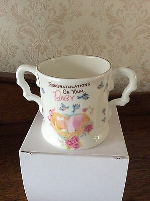 New Baby  Girl Bone China Loving Cup