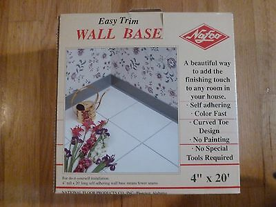 """Easy Trim WOOD Wall Base by NAFCO 4"""" x 20' NEW IN BOX w/Adhesive"""