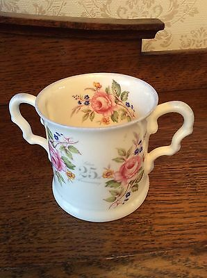 25th WEDDING  ANNIVERSARY BONE CHINA LOVING CUP