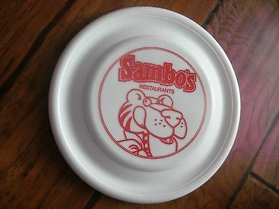 "Sambo's Restaurant Red and White Frisbee with Tiger  ""Orig"" Great Condition"