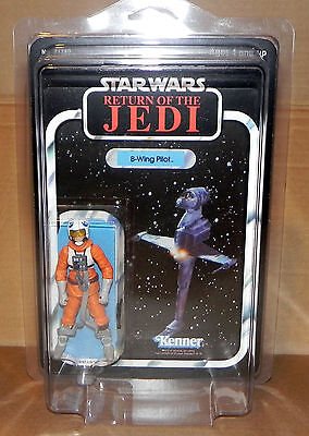 Star Wars Vintage Kenner Return of the Jedi 1983 B-Wing Pilot Recard Repro